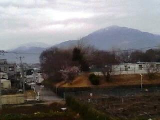 大山、丹沢の雪化粧