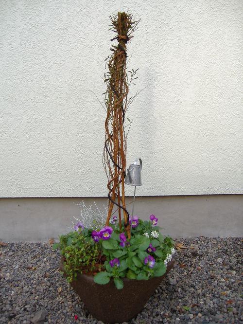 初冬から晩秋まで楽しめる寄せ植え